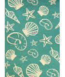 Couristan Outdoor Escape Cardita Shells Turquoise - Ivory Area Rug