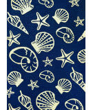 Couristan Outdoor Escape Cardita Shells Navy - Ivory Area Rug