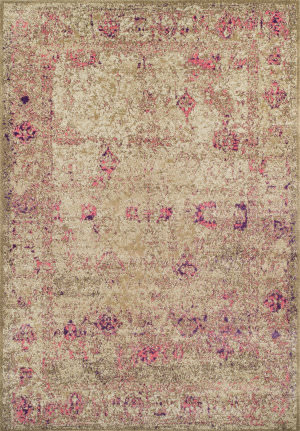Dalyn Antiquity Aq1 Ivory-Pink Area Rug