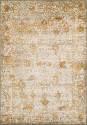Dalyn Antiquity Aq1 Ivory-Tangerine Area Rug