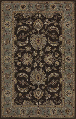 Dalyn Jewel Jw37 Chocolate/Spa Blue Area Rug