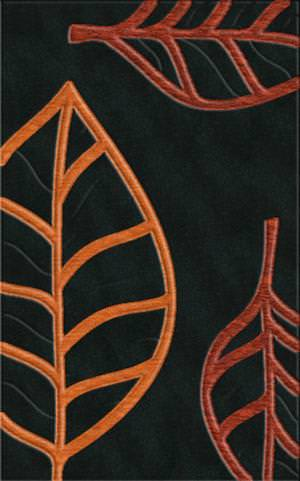 Rugstudio Riley DL13 Black-Rich Red-Coral Area Rug