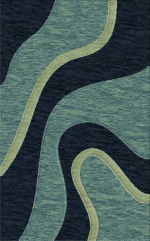 Rugstudio Riley DL16 Navy-Sky-Glass Area Rug