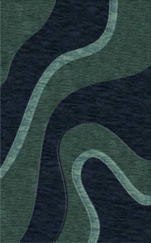 Rugstudio Riley DL16 Teal-Navy-Sky Area Rug