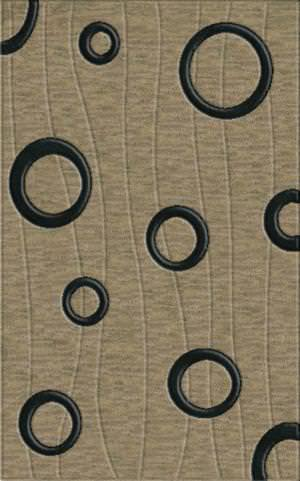 Rugstudio Riley DL23 Silver-Black Area Rug