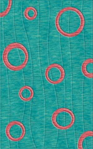 Rugstudio Riley DL23 Peacock-Bubblishous Area Rug