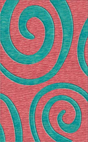 Rugstudio Riley DL17 Bubblishous-Peacock Area Rug