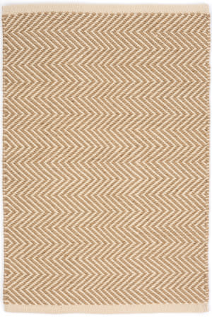 Dash And Albert Arlington Rdb332 Camel - Ivory Area Rug