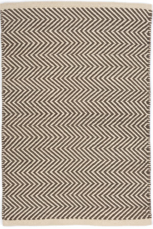 Dash And Albert Arlington Rdb333 Charcoal - Ivory Area Rug