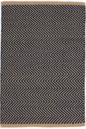 Dash And Albert Arlington Rdb334 Navy - Camel Area Rug