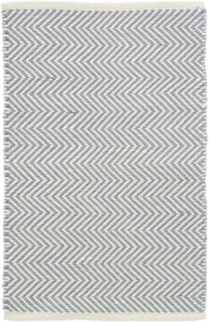 Dash And Albert Arlington Rdb360 Swedish Blue - Ivory Area Rug