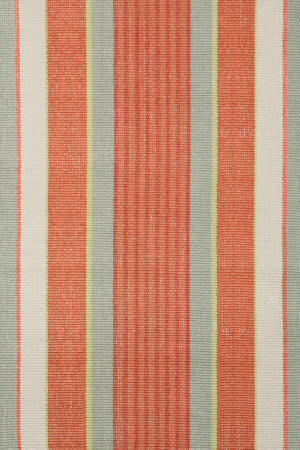 Dash and Albert Autumn Stripe Cotton Woven Area Rug