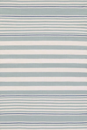 Dash And Albert Beckham Stripe Light Blue Area Rug