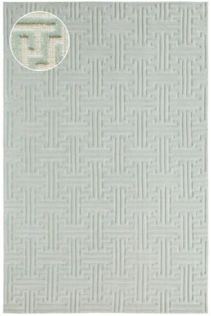 Dash And Albert Beekman Knotted Pearl Blue Area Rug