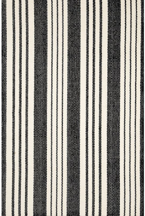 Dash And Albert Birmingham Indoor-Outdoor Black Area Rug