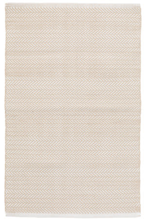 Dash And Albert C3 Herringbone Indoor-Outdoor Linen Area Rug