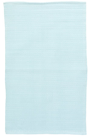 Dash And Albert C3 Herringbone Indoor-Outdoor Sky Area Rug