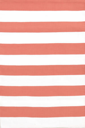 Dash And Albert Catamaran Stripe 105469 Coral/White Area Rug