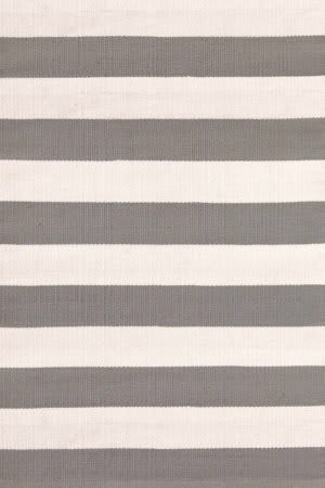 Dash And Albert Catamaran Stripe 105470 Fieldstone/Ivory Area Rug