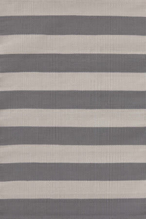 Dash And Albert Catamaran Stripe 105471 Graphite/Fieldstone Area Rug