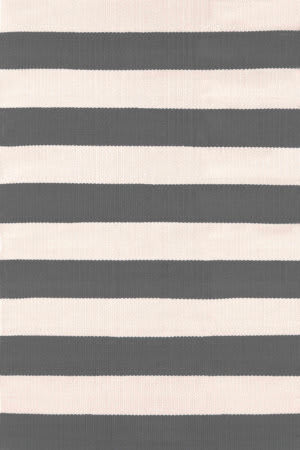 Dash And Albert Catamaran Stripe 105472 Graphite/Ivory Area Rug