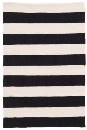Dash And Albert Catamaran Indoor-Outdoor Black - Ivory Area Rug