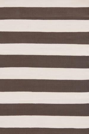 Dash And Albert Catamaran Stripe Brown/Ivory Area Rug