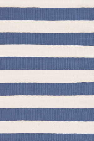 Dash And Albert Catamaran Stripe Denim/Ivory Area Rug