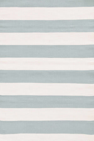 Dash And Albert Catamaran Stripe Light Blue/Ivory Area Rug
