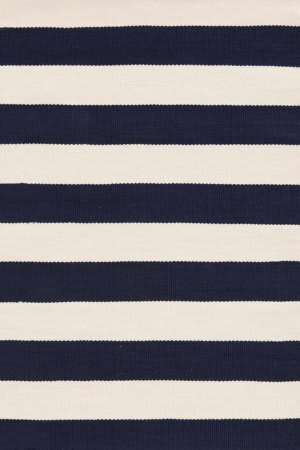 Dash And Albert Catamaran Stripe Navy/Ivory Area Rug