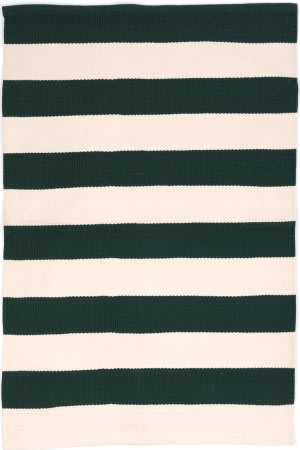 Dash And Albert Catamaran Stripe Ivory Pine Area Rug