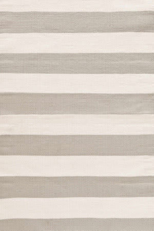 Dash And Albert Catamaran Stripe Platinum/Ivory Area Rug