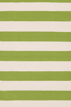 Dash And Albert Catamaran Stripe Sprout/Ivory Area Rug