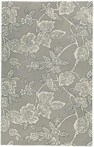Dash And Albert Charlotte Micro Hooked Grey Area Rug