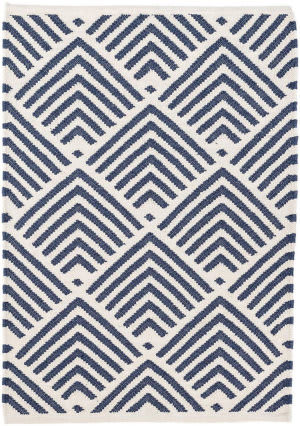 Dash And Albert Cleo Indoor-Outdoor Navy Area Rug