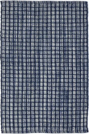 Dash And Albert Coco Plaid Blue Area Rug