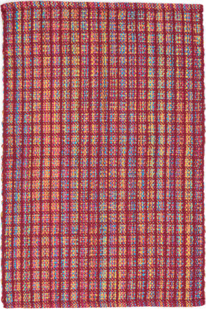 Dash And Albert Coco Plaid Red Area Rug