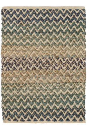 Dash And Albert Cousteau Jute Blue Area Rug