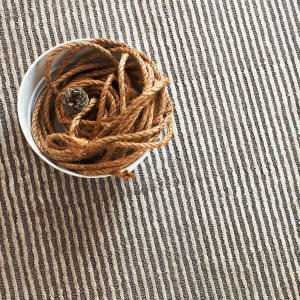 Dash And Albert Cut Stripe 72651 Grey Area Rug