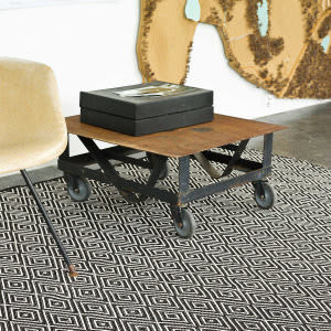 Dash and Albert Diamond 56187 Black/Ivory Area Rug