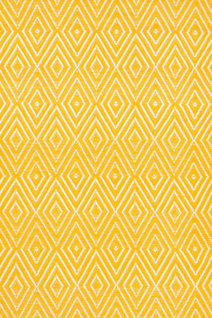 Dash And Albert Diamond 64412 Canary/White Area Rug