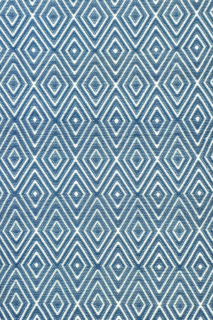 Dash and Albert Diamond 56191 Denim/White Area Rug