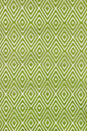 Dash and Albert Diamond 56197 Sprout/White Area Rug