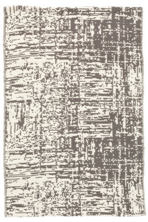 Dash And Albert Drybrush Cotton Grey Area Rug