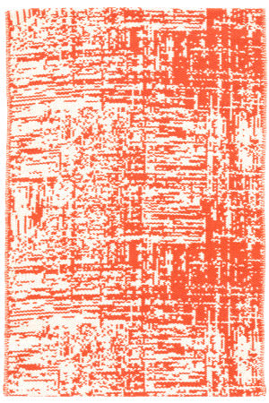 Dash And Albert Drybrush Cotton Orange Area Rug