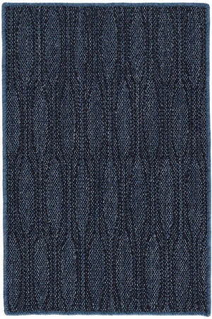 Dash And Albert Elliptic Woven Indigo Blue Area Rug