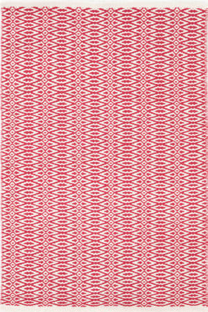 Dash And Albert Fair Isle 105504 Red/Ivory Area Rug