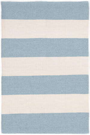 Dash And Albert Falls Village Stripe Blue Area Rug