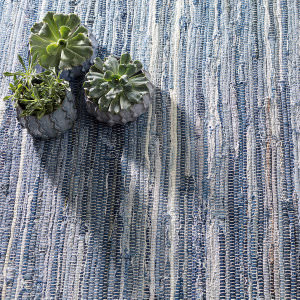 Dash And Albert Fine Denim Rag Blue Area Rug