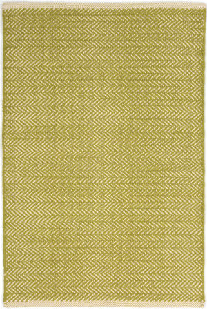 Dash And Albert Herringbone Geometric Citrus Area Rug